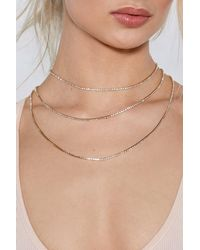 """Nasty Gal - Metallic """"into Office Layered Necklace"""" - Lyst"""