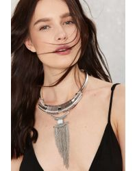 Nasty Gal - Metallic Aluna Collar Necklace - Lyst