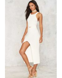 Nasty Gal - White Nightwalker Knit A Problem Maxi Dress - Lyst