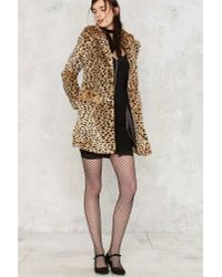 Nasty Gal - Multicolor Spot The Difference Faux Fur Leopard Coat - Lyst
