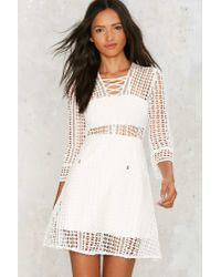 Nasty Gal - White Miranda Crochet Dress - Lyst