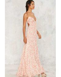 Nasty Gal - Pink Prints Charming Maxi Dress - Lyst