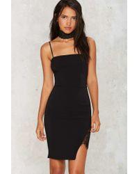 Nasty Gal - Black Love On The Side Mini Dress - Lyst