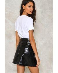 Nasty Gal - Black Walk On The Wild Side Ruffle Skirt - Lyst