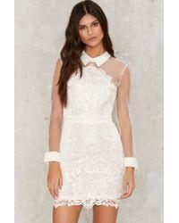 Nasty Gal | White Avery Crochet Lace Dress | Lyst