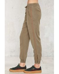Nasty Gal - Drawn Together Jogger Pants - Green - Lyst