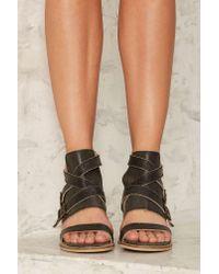 Nasty Gal | Black Kelsi Dagger Grant Leather Heel | Lyst