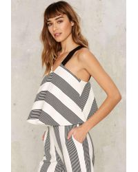Nasty Gal - Multicolor All The Stripe Moves Crop Top - Lyst