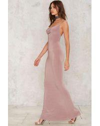 Nasty Gal - Pink Katia Maxi Dress - Lyst