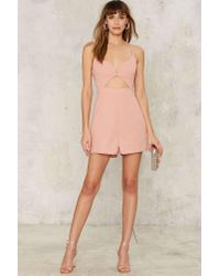 Glamorous   Pink Haddie Cut-out Romper   Lyst