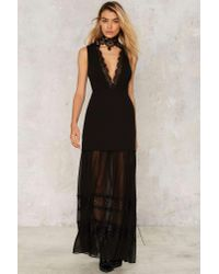 Nasty Gal | Black Now You See Me Maxi Dress | Lyst