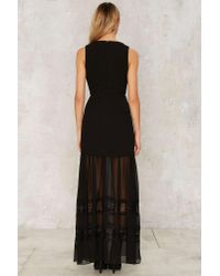 Nasty Gal - Black Now You See Me Maxi Dress - Lyst