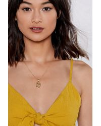 Nasty Gal - Metallic You Rule Soverign Necklace - Lyst