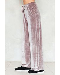 """Nasty Gal - Multicolor """"touch Too Much Crushed Velvet Jogger Pants"""" - Lyst"""