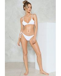 Nasty Gal - White Alina Mix & Match Triangle Bikini Top Alina Mix & Match Triangle Bikini Top - Lyst