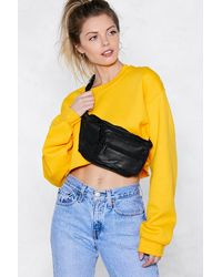 "Nasty Gal - Black ""want Bag It Leather Fanny Pack"" - Lyst"