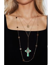 "Nasty Gal - Metallic ""blessing In Disguise Necklace"" - Lyst"