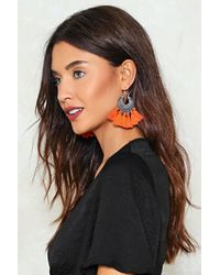 Nasty Gal - Orange Let's Rock Tassel Earrings - Lyst