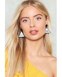 Nasty Gal - Black Bad Girl Slogan Earrings Bad Girl Slogan Earrings - Lyst