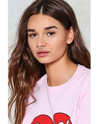 Nasty Gal | Metallic Fake Out Faux Septum 2-pc Ring Set Fake Out Faux Septum 2-pc Ring Set | Lyst