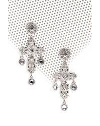 Nasty Gal | Metallic Embellished Cross Earring Embellished Cross Earring | Lyst