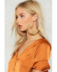 Nasty Gal - Metallic Textured Mega Hoops Textured Mega Hoops - Lyst