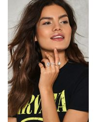 Nasty Gal | Metallic The More The Merrier 5-pc Ring Set The More The Merrier 5-pc Ring Set | Lyst