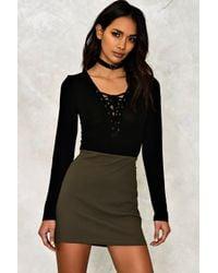 Nasty Gal | Black Anna Mini Skirt | Lyst
