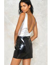 Nasty Gal | Isabella Metallic Bodysuit | Lyst