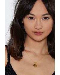 Nasty Gal - Metallic Take A Shine Gold Plated St. Christopher Necklace - Lyst