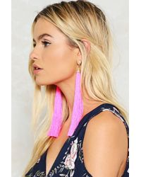 Nasty Gal - Pink 20cm Long Tassel Earrings 20cm Long Tassel Earrings - Lyst