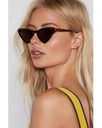Nasty Gal - Brown Play All The Angles Tortoiseshell Cat-eye Shades - Lyst