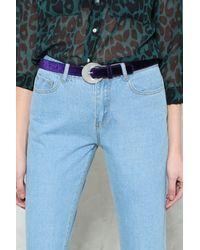 Nasty Gal - Purple Velvet Crescent Buckle Belt Velvet Crescent Buckle Belt - Lyst