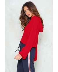 Nasty Gal - Red Take Some Heat Relaxed Hoodie - Lyst