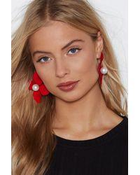Nasty Gal - Red Flower Power Earrings - Lyst