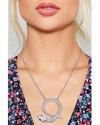 Nasty Gal - Metallic Snake It Work Diamante Necklace - Lyst