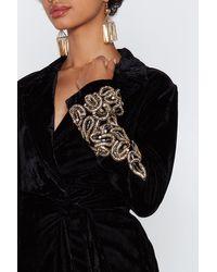 """Nasty Gal Black """"magic Touch Velvet Blazer Dress"""""""