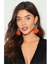 Nasty Gal | Orange Let's Rock Tassel Earrings Let's Rock Tassel Earrings | Lyst