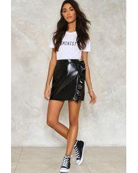 Nasty Gal | Black Walk On The Wild Side Ruffle Skirt | Lyst