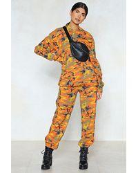 Nasty Gal - Orange Makin' A Camo Appearance Hoodie - Lyst