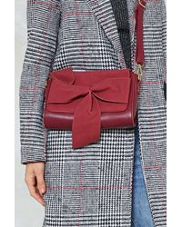 Nasty Gal Red Want In Bow Time Faux Leather Crossbody Bag