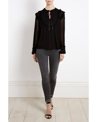 Needle & Thread | Black Rose Chain Top | Lyst
