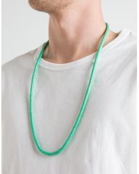 Need Supply Co. - Red Vintage Vinyl Necklace Turquoise for Men - Lyst