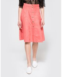 Farrow - Pink Rouge Midi Skirt - Lyst