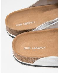 Our Legacy | White Tassle Slip On for Men | Lyst