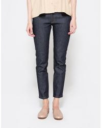 A.P.C. | Blue Midrise Flared Jeans | Lyst