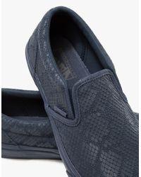 Vans Blue Classic Slip-on Dx In Navy for men