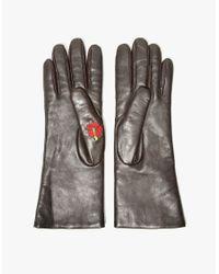 Trademark - Flowered Glove In Brown - Lyst