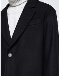 AMI - Black Oversized 2 Buttons Coat for Men - Lyst