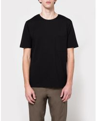 Lemaire - Pocket Tee Shirt In Black for Men - Lyst